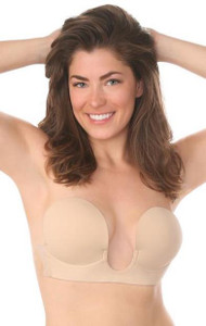 Backless Strapless Deep Plunge Adhesive Bra