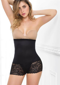 LACE SHEER HIGH WAISTED BOYSHORT