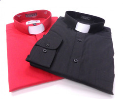 (2) Tab Collar Clergy Shirts For $59.99 --> 35 Colors Available