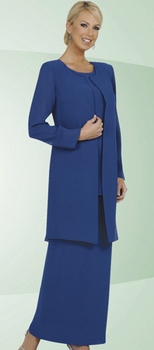 Ladies 3 Piece Choir Dress with Long Skirt  - 5 Colors Available