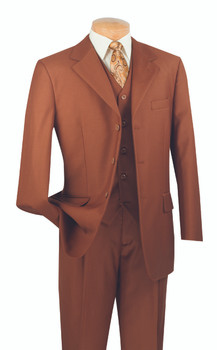 Executive 3-Button Vested Suit - (12) Colors Available