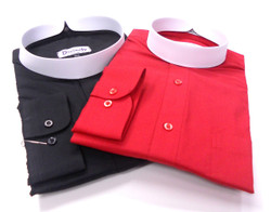 (2) Banded Collar Clergy Shirts for $59.99 -- 35 Colors Available
