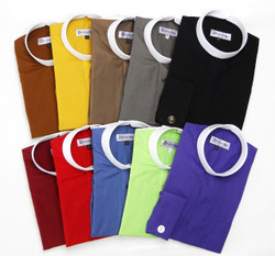 (4) BANDED COLLAR CLERGY SHIRTS FOR $99.99 - 35 Colors Available