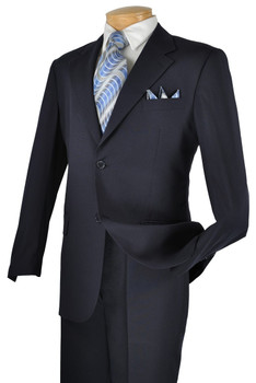 CLEARANCE: Solid Suit In Navy