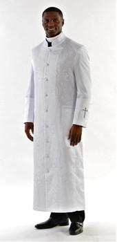 001.  Gershon Clergy Robe For Men In White