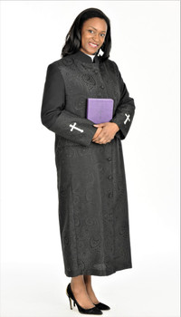 001. Gershon Clergy Robe For Ladies In Black