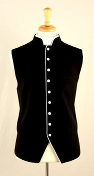 Clergy Vest In Black & White