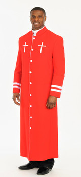 001. CLOSEOUT Men's Peter Clergy Robe For Men In Red & White