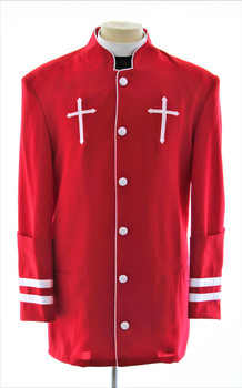 001. Men's Peter Clergy Jacket For Men In Red & White