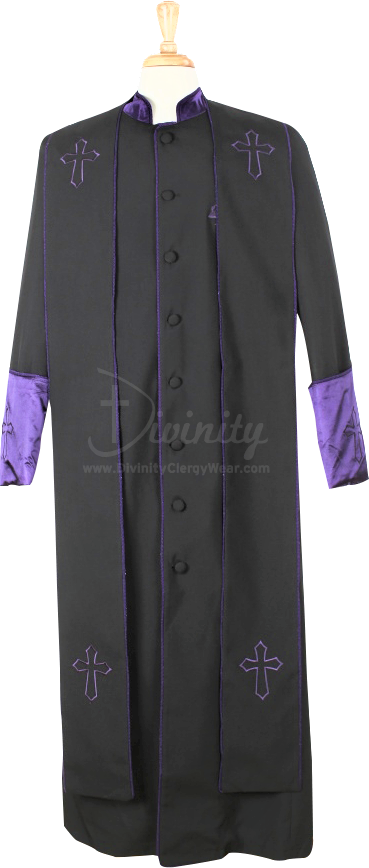 b5ac1adeff 004. Men s Asbury Clergy Robe   Stole Set In Black   Purple ...