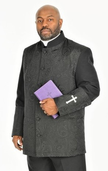 001. Men's Gershon Clergy Jacket In Black