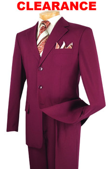(3) Three-Button Suits For $249.99 SALE -  15 Colors Available