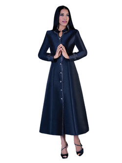07. Ladies 1-Piece Preaching Robe Dress In Black