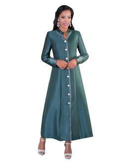 07. Ladies 1-Piece Preaching Robe Dress In Hunter Green