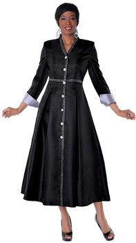 05. Ladies 1-Piece Preaching Dress In Black & Silver