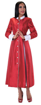 03. Ladies 1-Piece Preaching Robe Dress In Red & White