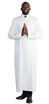 Men's Cain Clergy Robe In White