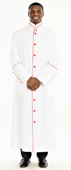 001. Men's Adam Clergy Robe in White & Red