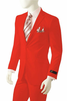 CLEARANCE: Solid Suit In Red