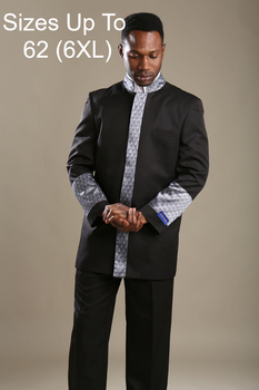 01. The Joseph Preaching Suit In Black & Silver