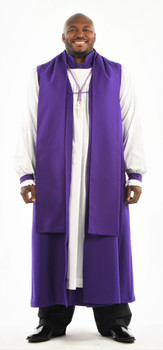 0001. Bishop Vestment - 6-Pieces Included