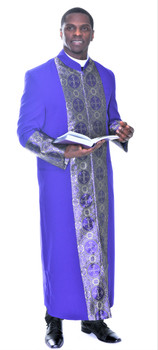 001. Men's Joseph Clergy Robe In Purple & Gold