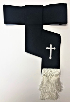 Clearance: Preacher Cincture Belt In Black & White