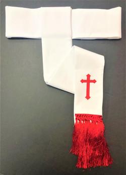 Clearance: Preacher Cincture Belt In White & White