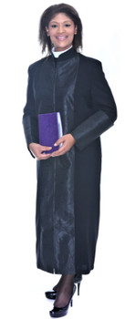 001. Mary Clergy Robe For Ladies In Black