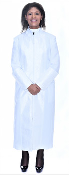 001. Mary Clergy Robe For Ladies In White