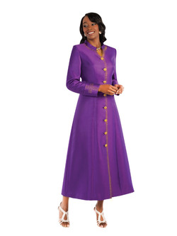 07. Ladies 1-Piece Preaching Robe Dress In Purple