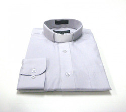CLEARANCE 101: SHORT SLEEVE Tab Collar Clergy Shirt - SILVER