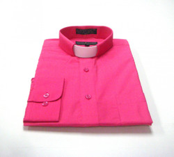 CLEARANCE 101: SHORT SLEEVE Tab Collar Clergy Shirt - FUSCHIA