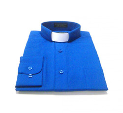 CLEARANCE 101: SHORT SLEEVE Tab Collar Clergy Shirt - ROYAL