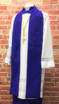 0001 Non-Denominational Vestment in Purple - 6 Pieces Included