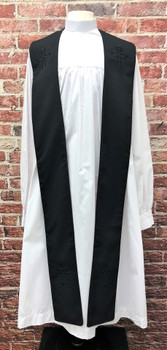 001. Trinity Clergy Stole in Black