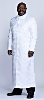 001. Men's Joshua Clergy Robe in Solid White