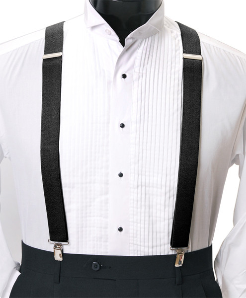 Men's Clip-On Suspender Set In BLACK