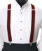 Men's Clip-On Suspender Set In BURGUNDY