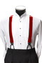 Men's Button-Hold Suspender Set In RED