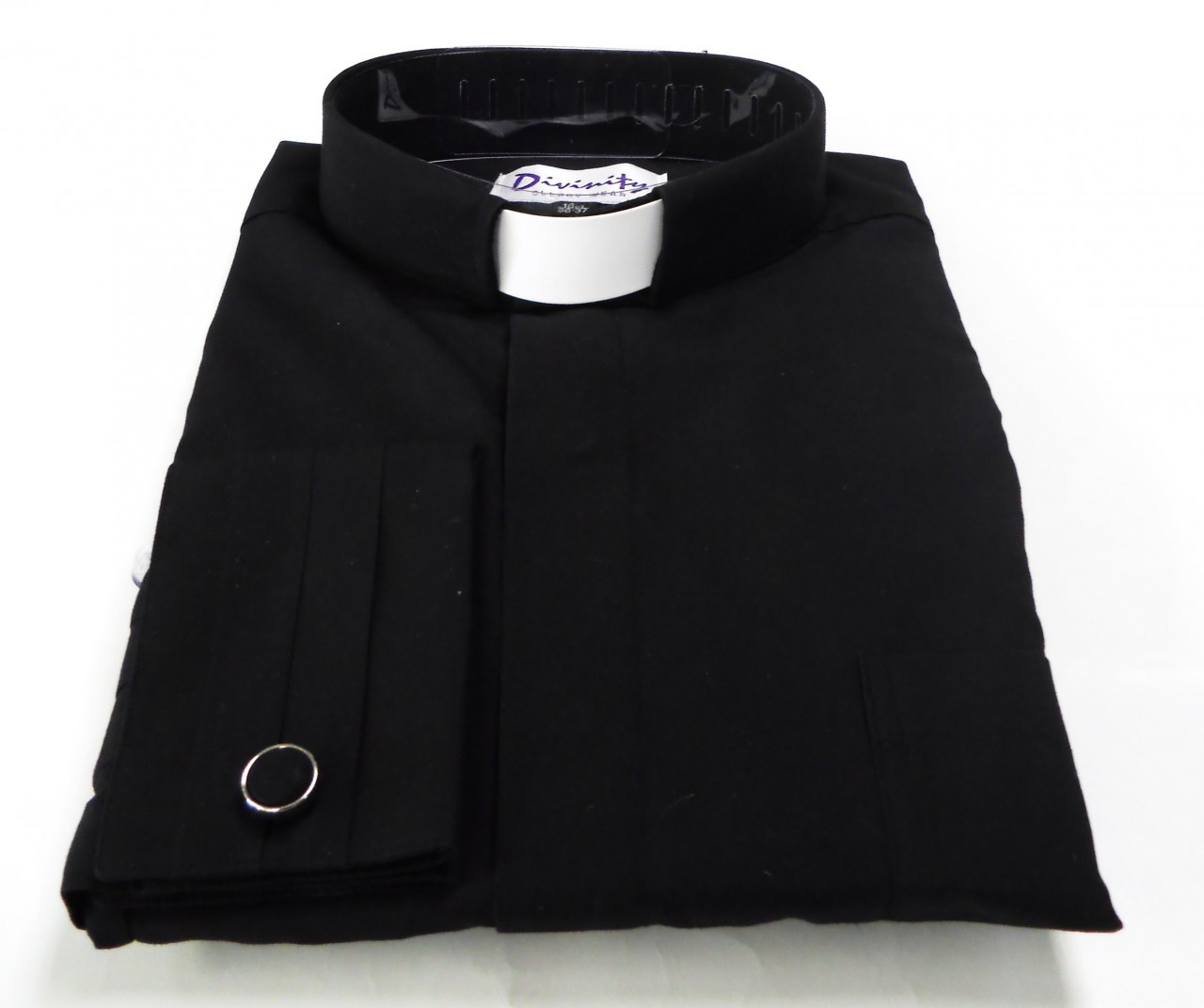 Tab Collar Mens French Cuff Clergy Shirt Clerical Shirt