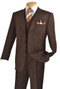 3-Piece Classic Pin Stripe Suit In Brown