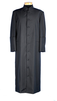 002.  Men's Clergy Robe In Solid Black