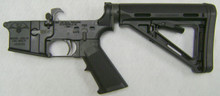 USA-15 (AR-15) Lower receiver with Standard trigger assembly and 6 position MOE collapsible Buttstock
