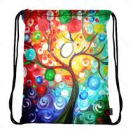 Drawstring Bag with Side Pocket 3128