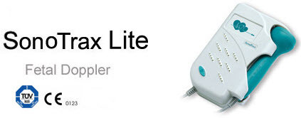 SonoTrax Lite Fetal heart Rate Doppler ,choice of 2mhz , 3Mhz probe + battery free shipping