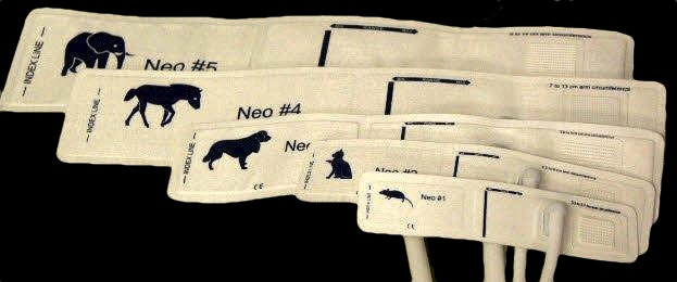 Neonate Blood Pressure Cuffs for Veterinary Use, 5 size available , no connector