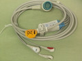 3 lead ECG cable for Physio-control/Medtronic LIFEPAK12, LIFEPAK20E,LIFEPAK15