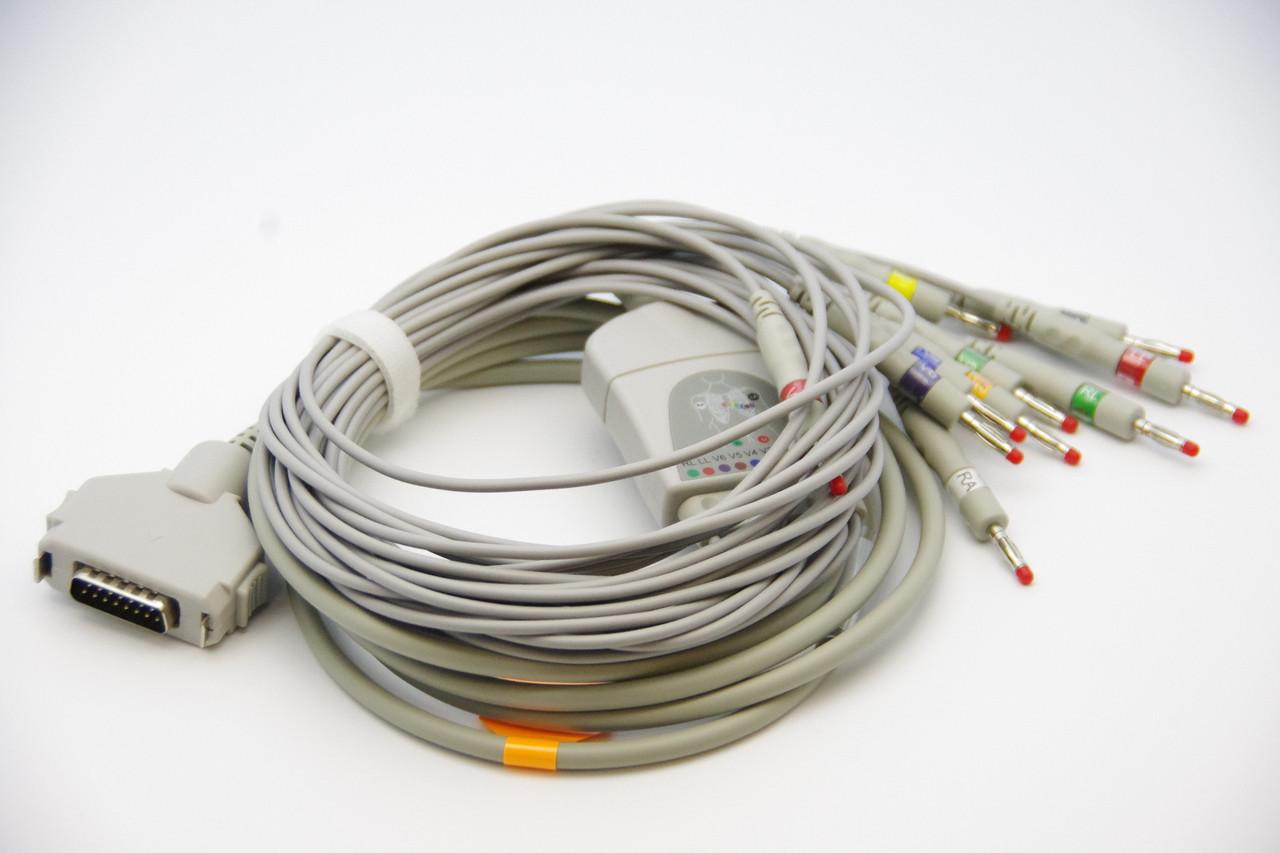 FUKUDA DENSHI 10 Lead ECG/EKG Cable AHA Banana 4.0mm FDA/CE