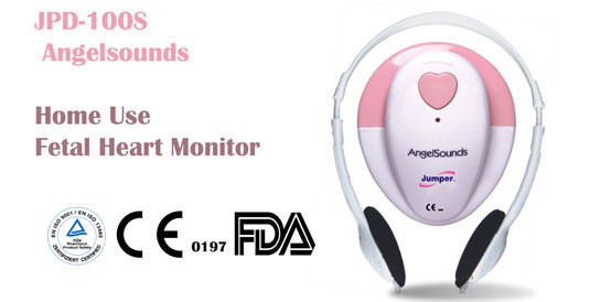 AngelSounds JPD-100S 3mhz fetal prenatal heart doppler ,w/gel and battery
